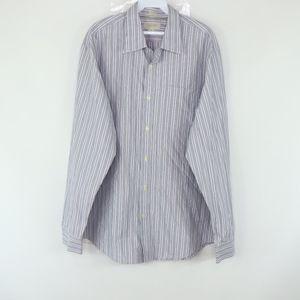 Banana Republic Mens XL Slim Fit Striped Shirt